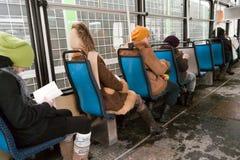 Inside tram. Stock Photo