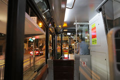 Inside of tram, hong kong Royalty Free Stock Images