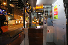 Inside of tram, hong kong Stock Photos