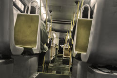 Inside a tram Royalty Free Stock Photo