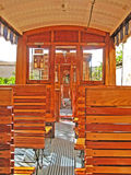 Inside Tram of Soller - Port de Soller, Majorca Royalty Free Stock Photos