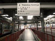 Inside the Transbay Terminal boarding area Royalty Free Stock Photo