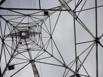 Inside a transmission tower. Countryside of Tokyo royalty free stock images