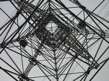 Inside a transmission tower. Countryside of Tokyo royalty free stock photos