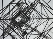 Inside a transmission tower. Countryside of Tokyo royalty free stock photography
