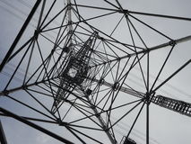 Inside a transmission tower. Countryside of Tokyo stock image