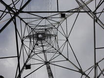 Inside a transmission tower. Countryside of tokyo, japan stock photography