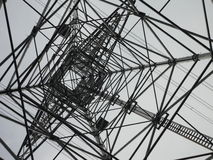 Inside a transmission tower. Countryside of tokyo, japan royalty free stock image