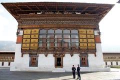 Inside the Trashi Chhoe Dzong, Thimphu, Bhutan Stock Photography