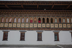 Inside the Trashi Chhoe Dzong in Thimphu, the capital of the Royal Kingdom of Bhutan Stock Photos