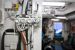 Inside a trawler Stock Image