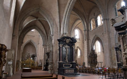 Inside of Trier Cathedral. The Cathedral of Saint Peter (German: Trierer Dom) is a Roman Catholic church in Trier, Rhineland-Palatinate, Germany. It is the Stock Images