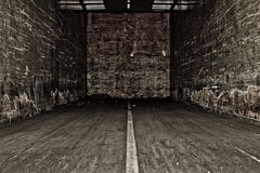 Inside Truck or Semi Trailer. Inside look at old truck/semi trailer Royalty Free Stock Photos