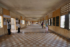 Inside the Tuol Sleng prison in Phnom Penh Royalty Free Stock Image