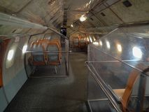 Inside the tupolev at museum stock image