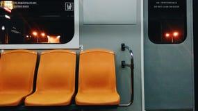 Inside uderground pociąg Zdjęcia Royalty Free