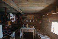 Inside of ukrainian traditional house. Ukraine Stock Image