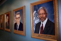 Inside the UN Building. New York City stock images