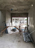 Inside of unfinished house Stock Images