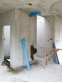 Inside of unfinished house Stock Photography