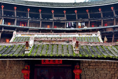 Fujian Earth Castle internal, featured residence in South of China Royalty Free Stock Photography