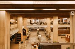 Free Inside Urban Structure With Readers And Students In Modern Building Of The Royal Library Royalty Free Stock Image - 146005746