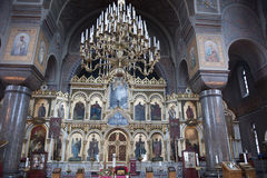 Inside Uspenski Cathedral, Helsinki. The Uspenski Cathedral is an Eastern Orthodox cathedral in Helsinki, Finland. The cathedral has several valuable Icons stock image