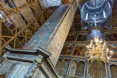 Inside the Uspensky Cathedral in the city of Rostov Velikiy Royalty Free Stock Photography