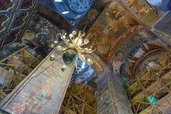 Inside the Uspensky Cathedral in the city of Rostov Velikiy Royalty Free Stock Image