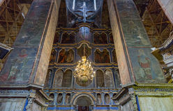Inside the Uspensky Cathedral in the city of Rostov Velikiy Stock Images