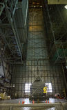 Inside the VAB. Interior of the Vehicle Assembly Building at Kennedy Space center, Titusville, Florida. Image shows the assembly bay doors, which are over 20 royalty free stock photography