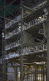 Inside the VAB 03. Interior of the Vehicle Assembly Building at Kennedy Space center, Titusville, Florida. Image shows part of the assembly bay, including a work stock photos