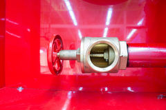 The inside vale of fire hose, on Fire Systems Stock Photos
