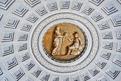 Inside of Vatican museum. Stock Images