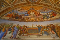 Inside the Vatican Museum one of the largest museums in the world Vatican Galleries Stock Images