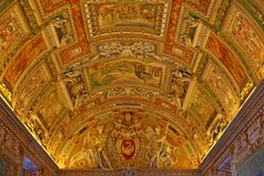 Inside the Vatican Museum one of the largest museums in the world Vatican Galleries. Italy Stock Images