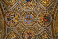 Inside the Vatican Museum one of the largest museums in the world Vatican Galleries Royalty Free Stock Image
