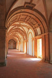 Inside the vaulted gallery Royalty Free Stock Image