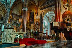 Inside Verona Cathedral Stock Image