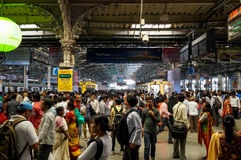 Inside Victoria train station, Mumbai stock photography