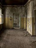 Inside view of an abandoned house Stock Photo