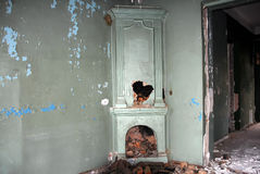 Inside view of an abandoned house Stock Image