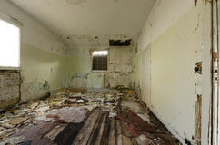 Inside view of an abandoned house in Greenland Stock Photography