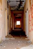 Inside view of an abandoned house in Latvia Stock Photo