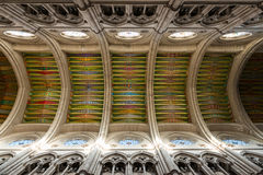 Inside view of the almudena Cathedral in Madrid Stock Image