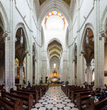 Inside view of Almudena Cathedral Royalty Free Stock Photos