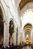Inside view of Almudena Cathedral  in Madrid, Spain Royalty Free Stock Image