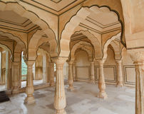 Inside view of the Amer Fort in Jaipur, India Stock Image