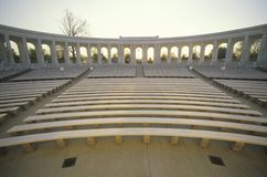Inside View of Arlington Memorial Theater at Sunset, Washington, D.C. Royalty Free Stock Images