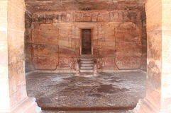 Inside view of badami cave temples, Karnataka, India Royalty Free Stock Image